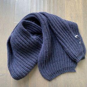 Sandro Chunky Knit Muffler Dark Blue